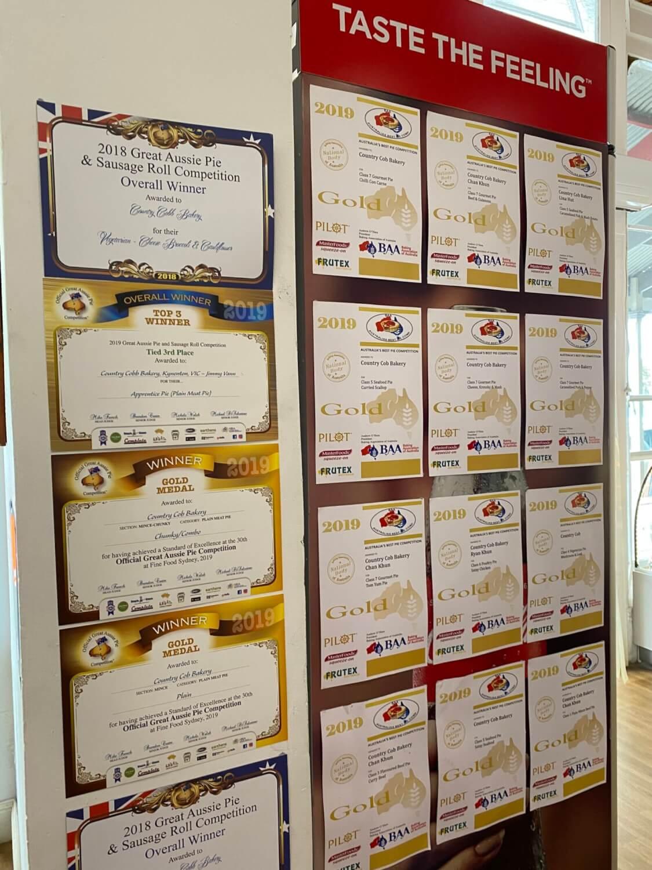 Country Cob Bakery pie awards